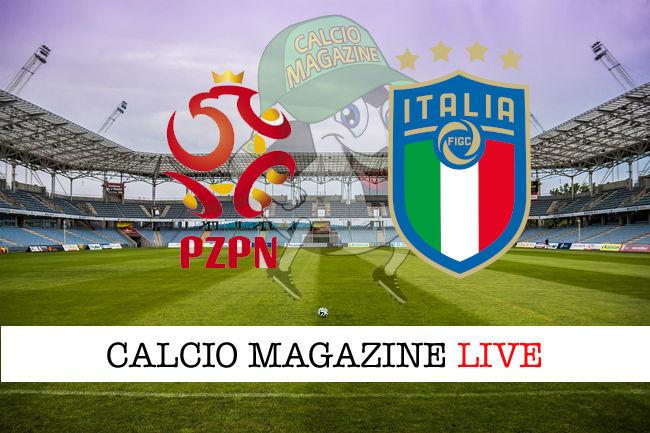 Polonia Italia cronaca diretta live risultato in tempo reale