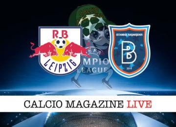 RB Lipsia Istanbul Basaksehir cronaca diretta live risultato in tempo reale