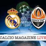 Real Madrid Shakhtar Donetsk cronaca diretta live risultato in tempo reale
