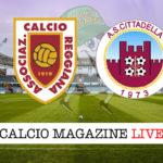 Reggiana Cittadella cronaca diretta live risultato in tempo reale