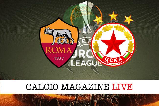 Roma CSKA Sofia cronaca diretta live risultato in tempo reale