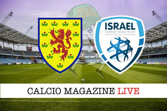 Scozia Israele cronaca diretta live risultato in tempo reale