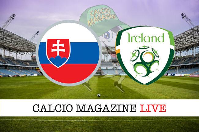 Slovacchia Irlanda cronaca diretta live risultato in tempo reale
