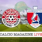 Sudtirol Sambenedettese cronaca diretta live risultato in tempo reale