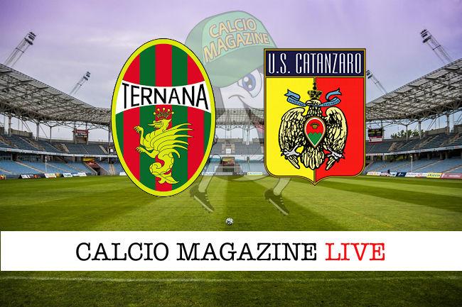Ternana Catanzaro cronaca diretta live risultato in tempo reale