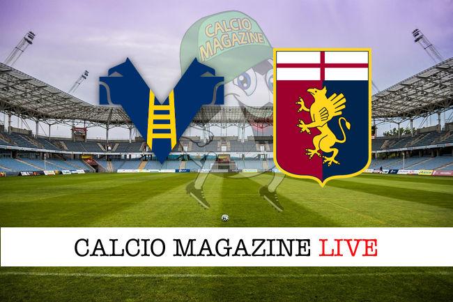 Verona Genoa cronaca diretta live risultato in tempo reale