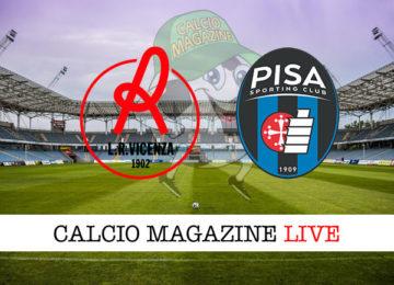Vicenza Pisa cronaca diretta live risultato in tempo reale