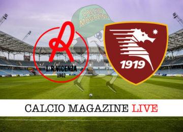 Vicenza Salernitana cronaca diretta live risultato in tempo reale