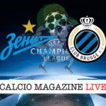 Zenit Club Brugge cronaca diretta live risultato in tempo reale