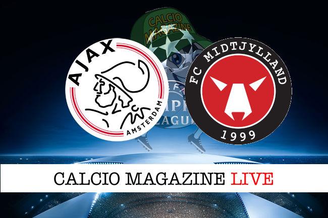 Ajax Midtjylland cronaca diretta live risultato in tempo reale