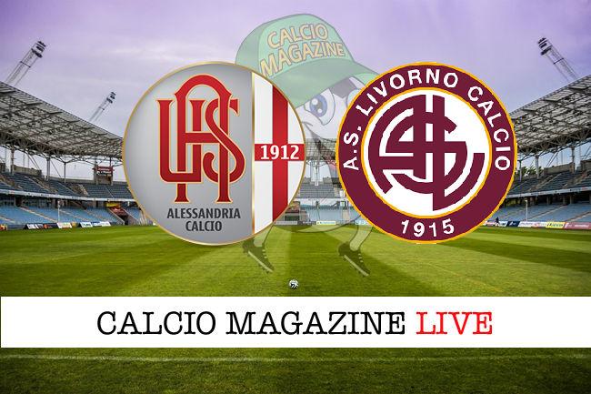 Alessandria Livorno cronaca diretta live risultato in tempo reale