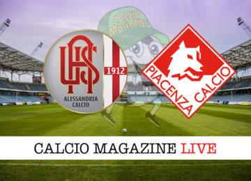 Alessandria Piacenza cronaca diretta live risultato in tempo reale