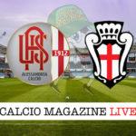 Alessandria Pro Vercelli cronaca diretta live risultato in tempo reale