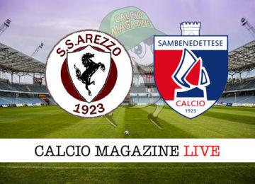 Arezzo Sambenedettese cronaca diretta live risultato in tempo reale