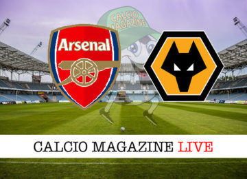 Arsenal Wolverhampton cronaca diretta live risultato in tempo reale