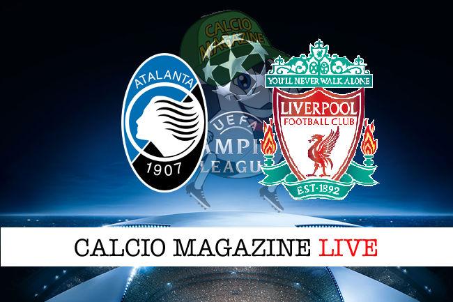 Atalanta Liverpool cronaca diretta live risultato in tempo reale