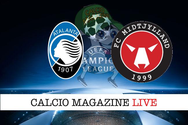 Atalanta Midtjylland cronaca diretta live risultato in tempo reale