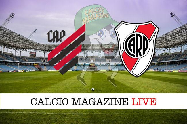 Athletico Paranaense River Plate cronaca diretta live risultato in tempo reale
