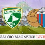 Avellino Catania cronaca diretta live risultato in tempo reale