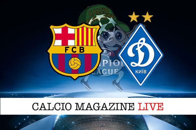 Barcellona Dinamo Kiev cronaca diretta live risultato in tempo reale