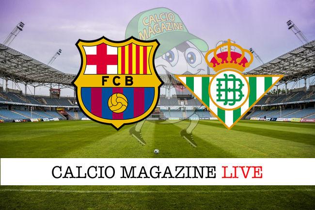 Barcellona Real Betis cronaca diretta live risultato in tempo reale
