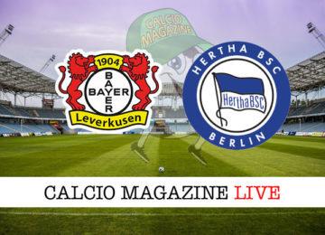 Bayer Leverkusen Hertha Berlino cronaca diretta live risultato in tempo reale