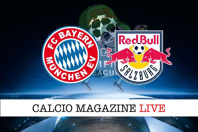 Bayern Monaco Salisburgo cronaca diretta live risultato in tempo reale