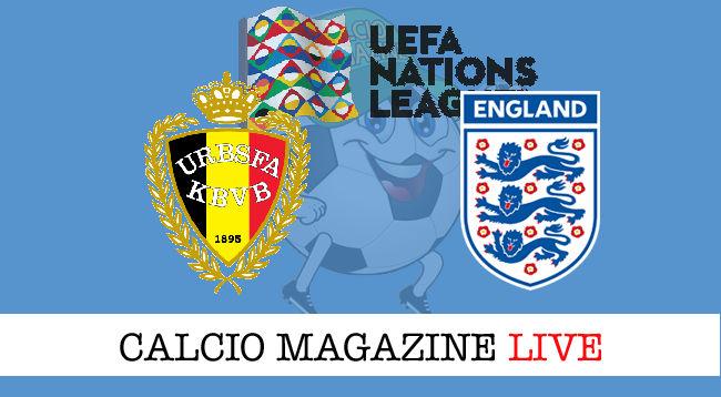 Belgio Inghilterra cronaca diretta live risultato in tempo reale