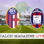 Bologna Crotone cronaca diretta live risultato in tempo reale