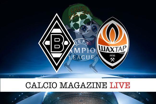 Borussia M'Gladbach Shakhtar Donetsk cronaca diretta live risultato in tempo reale