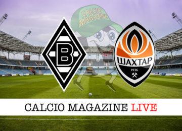 Borussia M'Gladbach Shakhtar-donetsk cronaca diretta live risultato in tempo reale