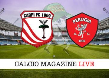 Carpi Perugia cronaca diretta live risultato in tempo reale