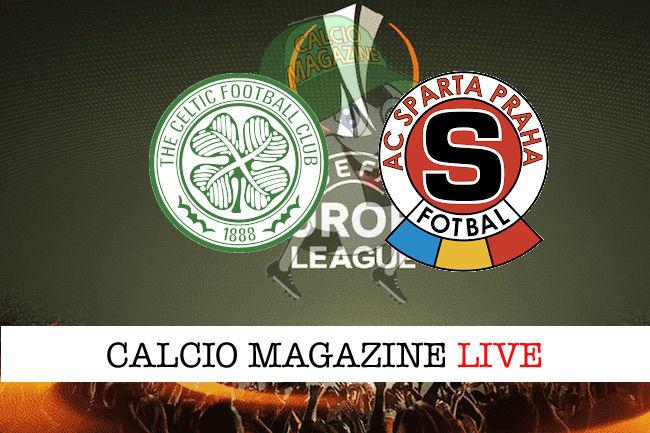 Celtic Sparta Praga cronaca diretta live risultato in tempo reale