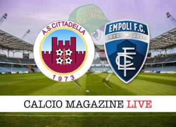 Cittadella Empoli cronaca diretta live risultato in tempo reale