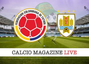 Colombia Uruguay cronaca diretta live risultato in tempo reale