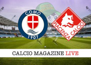 Como Piacenza cronaca diretta live risultato in tempo reale