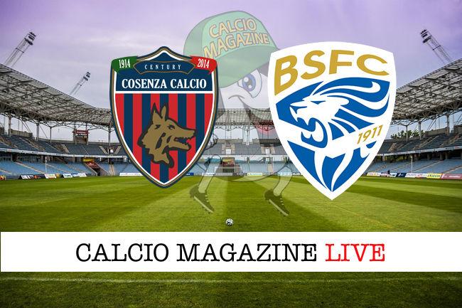 Cosenza Brescia cronaca diretta live risultato in tempo reale