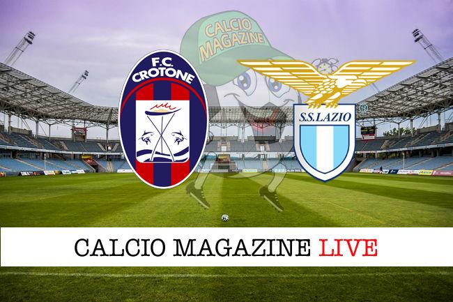 Crotone Lazio cronaca diretta live risultato in tempo reale