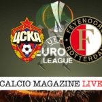 CSKA Mosca Feyenoord cronaca diretta live risultato in tempo reale