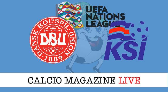 Danimarca Islanda cronaca diretta live risultato in tempo reale