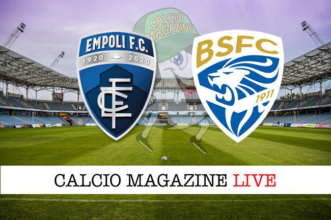 Empoli Brescia cronaca diretta live risultato in tempo reale