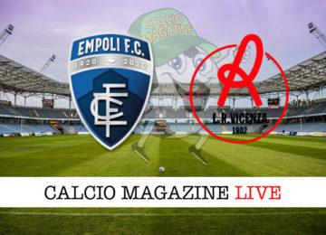 Empoli Vicenza cronaca diretta live risultato in tempo reale
