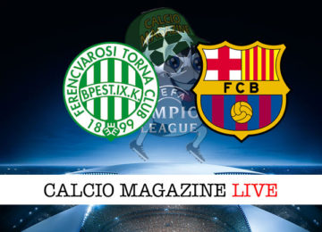 Ferencvaros Barcellona cronaca diretta live risultato in tempo reale