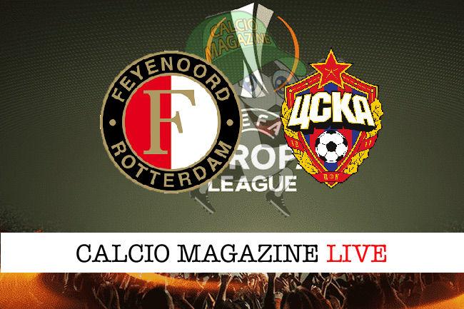 Feyenoord CSKA Mosca cronaca diretta live risultato in tempo reale