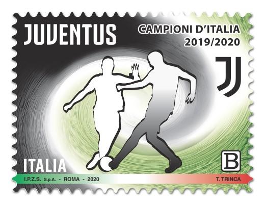 Francobollo per la Juventus Campione d'Italia 2019/2020