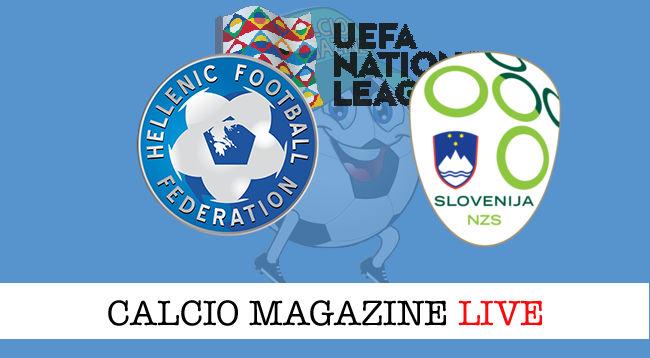 Grecia Slovenia cronaca diretta live risultato in tempo reale