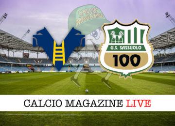 Hellas Verona Sassuolo cronaca diretta live risultato in tempo reale