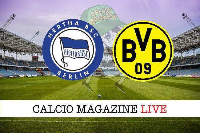 Hertha Berlino Borussia Dortmund cronaca diretta live risultato in tempo reale
