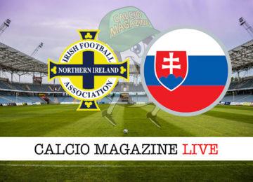 Irlanda del Nord Slovacchia cronaca diretta live risultato in tempo reale