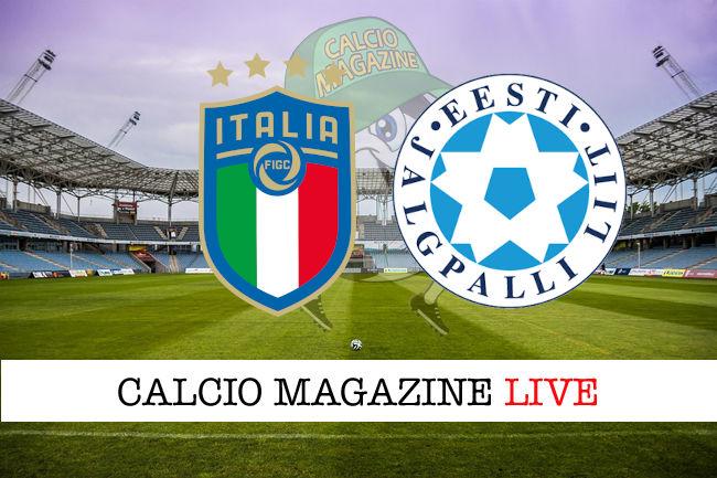 Italia Estonia cronaca diretta live risultato in tempo reale